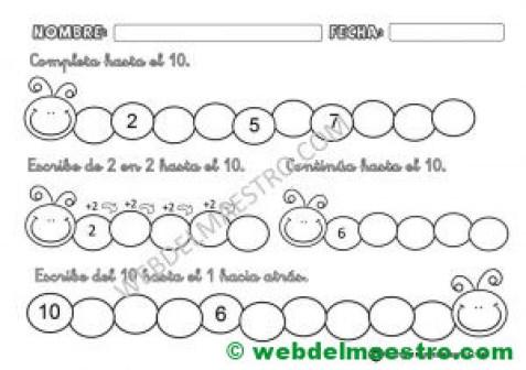 Series numericas para Infantil