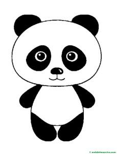 dibujo de oso panda-