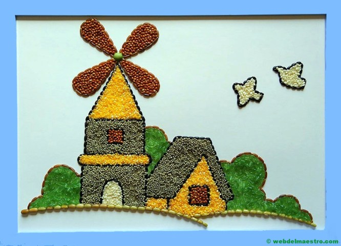 paisaje con molino