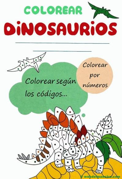 Dinosaurios para colorear-portada