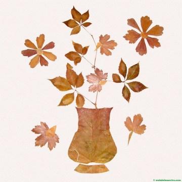 Jarrón con hojas secas-2