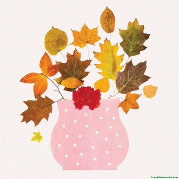 Jarrón con hojas secas-3