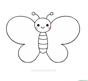 mariposa para pegar gomets-dibujo