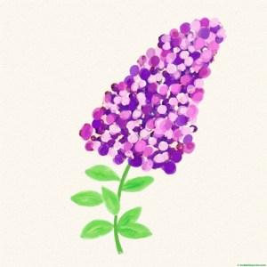 Pintura con dedos de flores-1