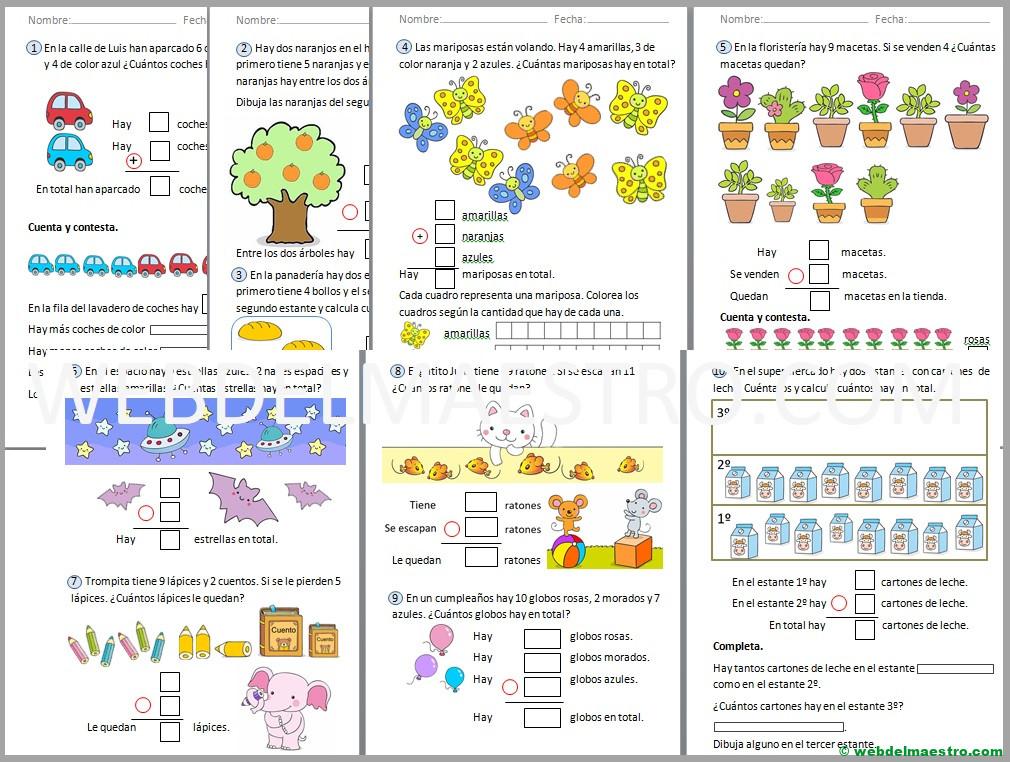 Problemas De Matematicas Para Primero De Primaria Web Del Maestro