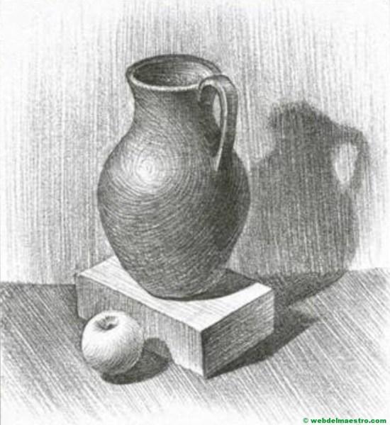 dibujo de bodegón a lápiz fácil