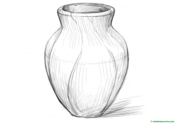 florero-dibujo fácil de hacer a lápiz