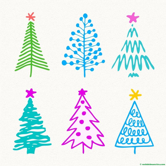 Modelos para dibujar árbol de Navidad-3
