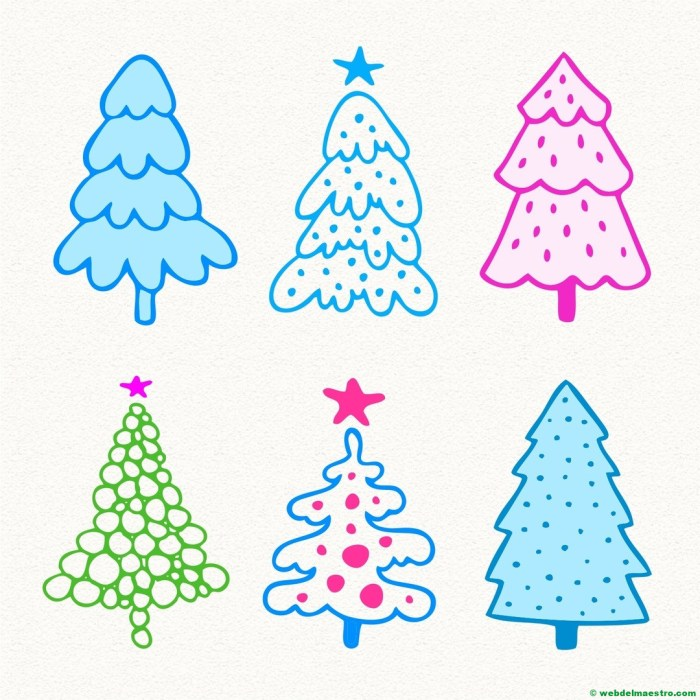 Modelos para dibujar árbol de Navidad-6