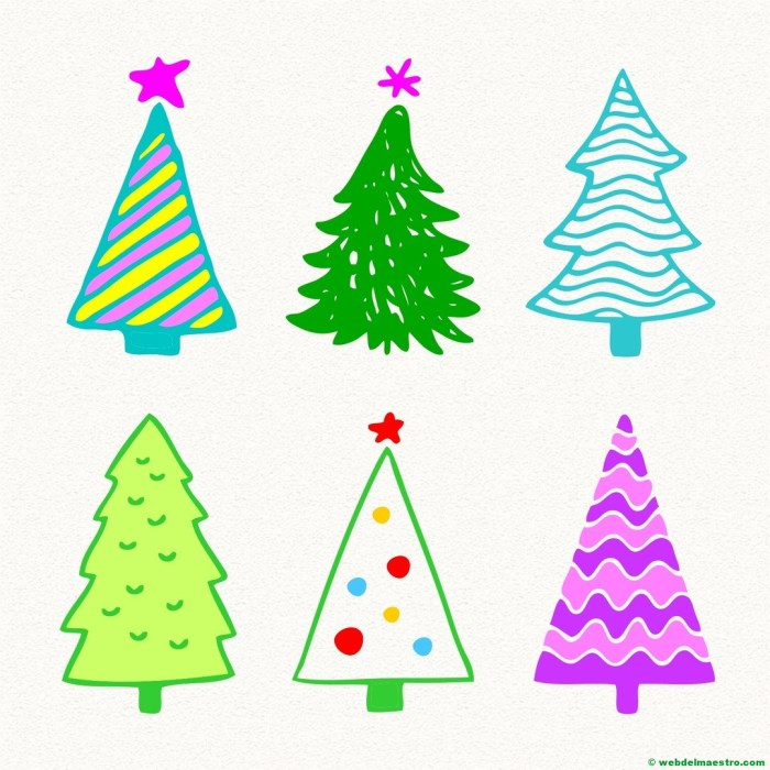 Modelos para dibujar árbol de Navidad-7
