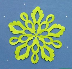 Copo de nieve de color-2 terminación del trabajo
