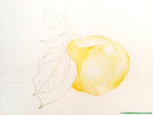 dibujo de manzana-paso 2