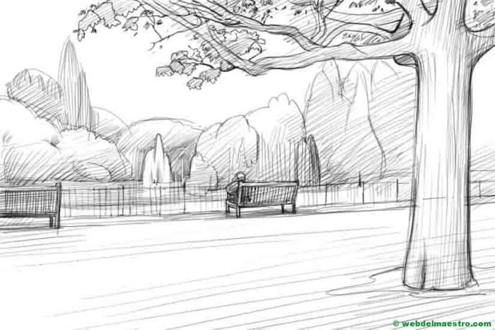 paisaje a lápiz-Terminación del trabajo