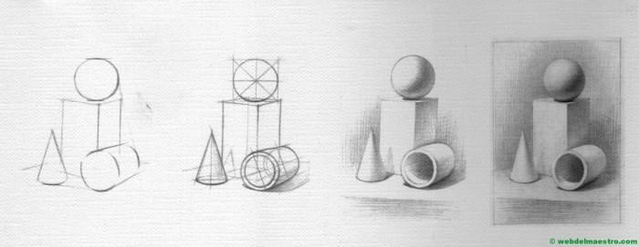 proceso de esbozo de dibujo y terminación