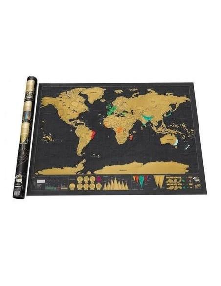 Carte A Gratter Du Monde : carte, gratter, monde, Carte, Monde, Gratter