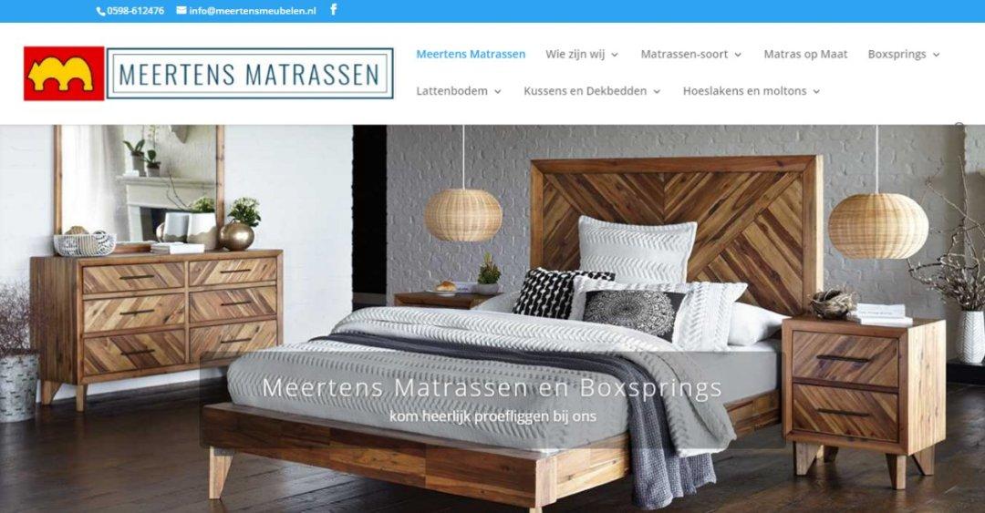 Meertens Matrassen update website
