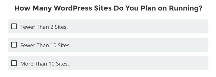どのくらいのWordPressのサイトをランニングする計画なのか?