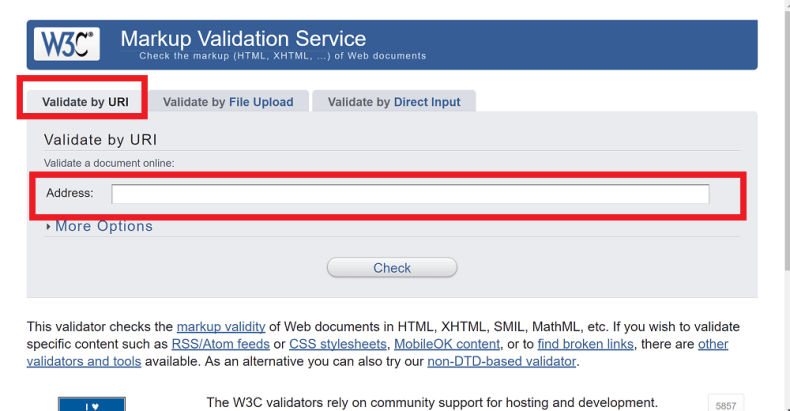 [HTML,CSSコーディング] W3C HTML Validator Serviceで文法チェック