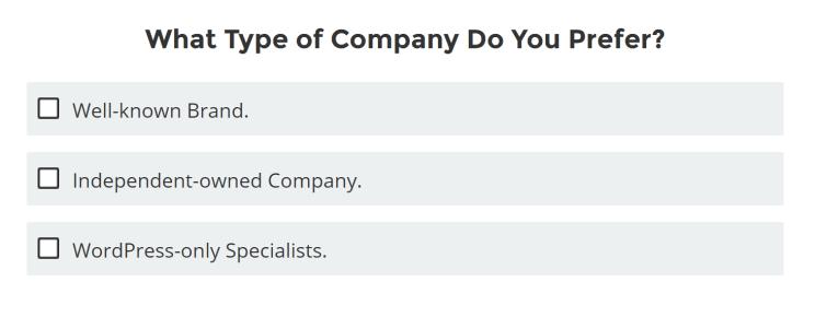 どんな会社のタイプをホスティングするのか?