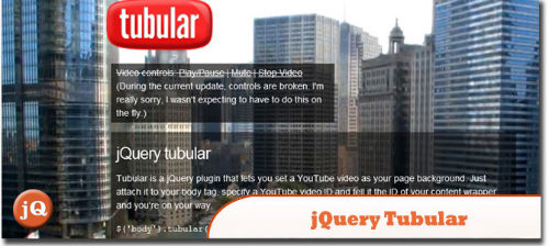 Best jQuery Plugins For UX - Tubular