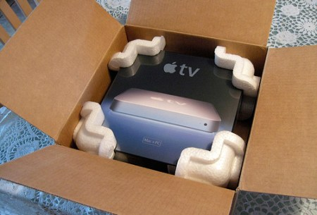 Apple TV inside the box