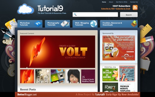 Tutorial9's front page