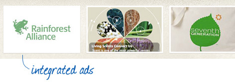 Integrated ads