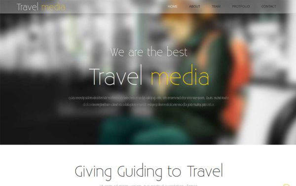 free html5 css3 template travel media