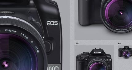 Canon 400D + lens 17-85mm