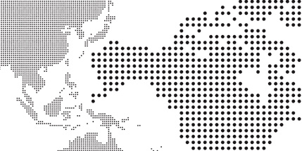Dotted world map vector resource