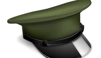 How to Make a Vector Military Cap Icon