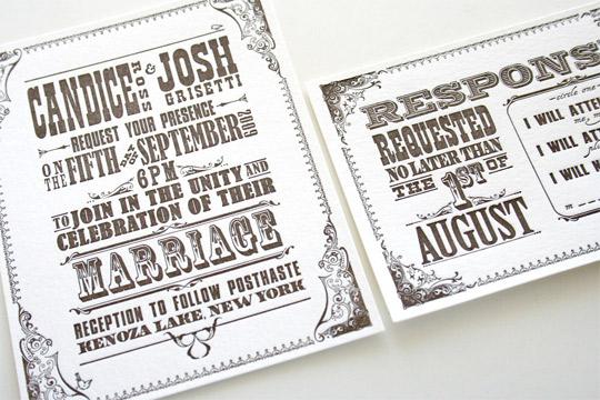 letterpress invitations