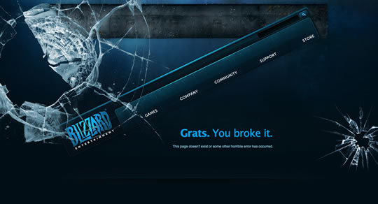 Blizard 404 page