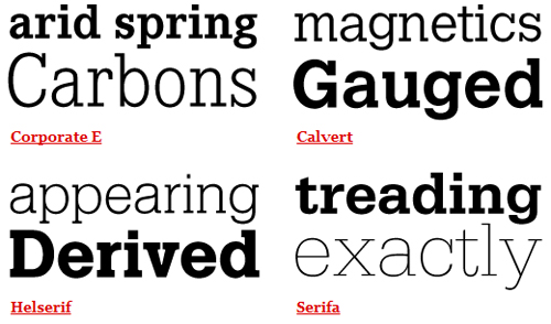 Helvetica Combinations