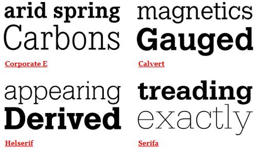 Helvetica Combinations