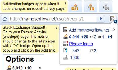 Notifier for Stack Exchange websites