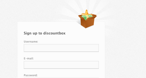 Signup for Discount Box