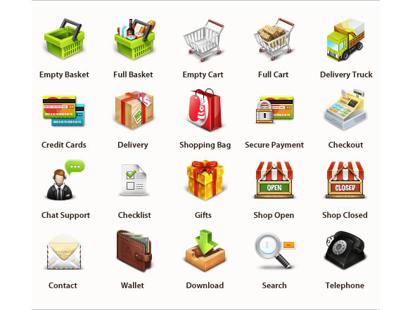 Professional E-Commerce Icons Set