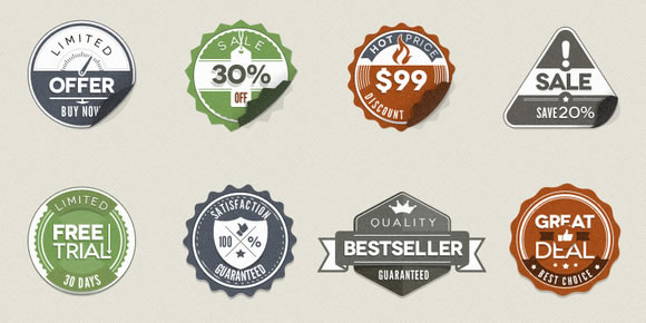 Modern Vintage Stickers Badges