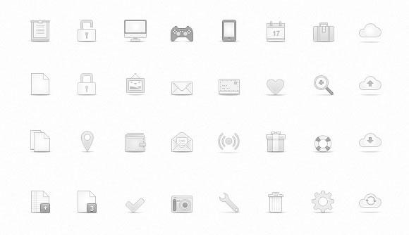 Soft Media Icons Set