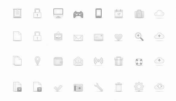 Soft Media Icons Set
