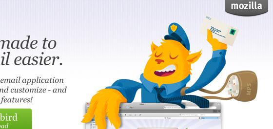 mailman vector art for Thunderbird software