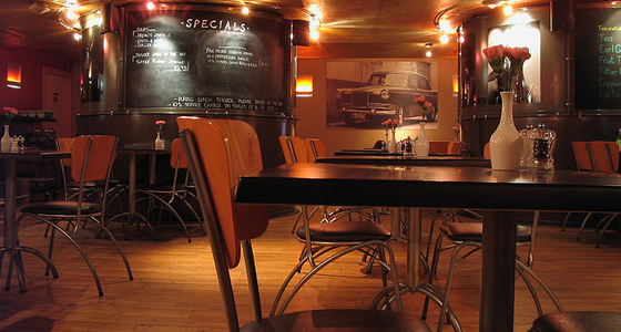 United Kingdom - quiet diner and cafe bar