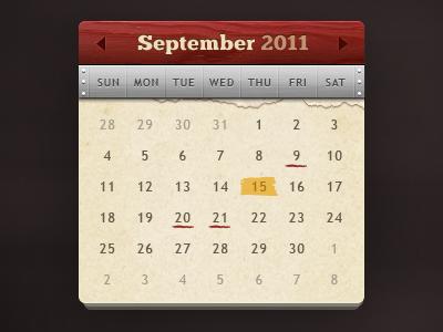 torn calendar wooden texture PSD