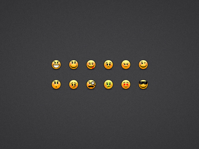 freebie emoticon smilies set png