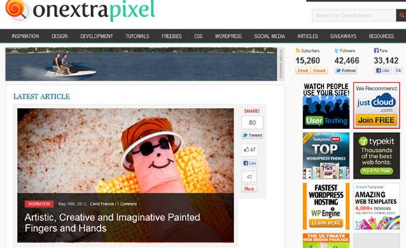 Onextra Pixel web design magazine