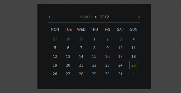 How to Create Calendar using jQuery and CSS3 [Tutorial]