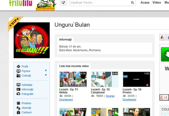 Trilulilu video streaming YouTube clone