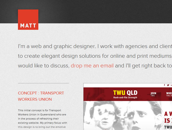 Matthew Symonds website portfolio design