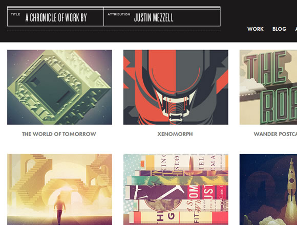 Freelancer Justin Mezzell portfolio